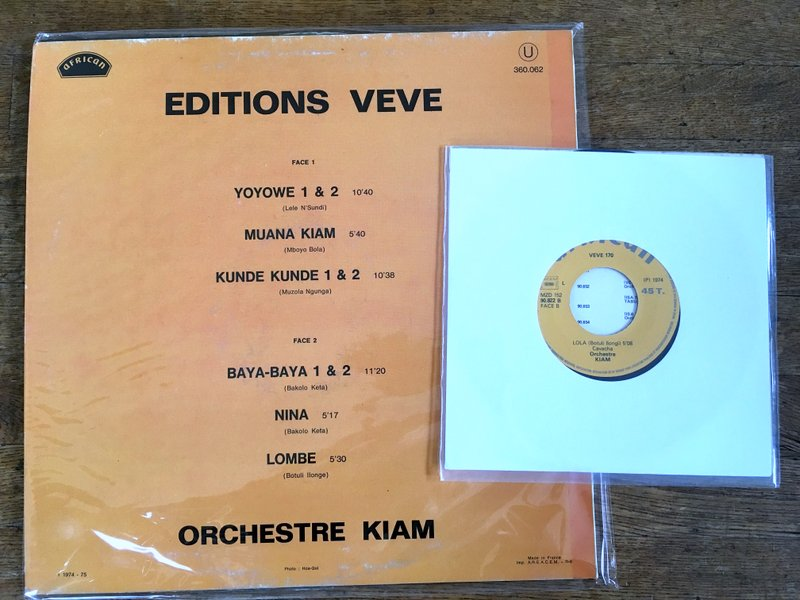 Orchestre Kiam Nina Lola Editions Veve Back Cover