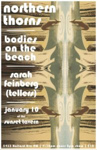 Northern Thorns, Bodies On the Beach & Tellers @ Sunset Tavern